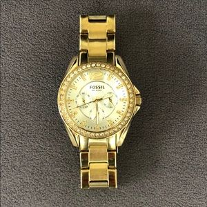 Fossil Gold Stainless Steel Watch